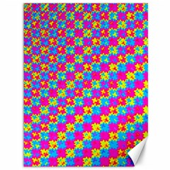 Crazy Yellow And Pink Pattern Canvas 36  X 48   by KirstenStar