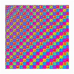 Crazy Yellow And Pink Pattern Medium Glasses Cloth (2 Side) by KirstenStar