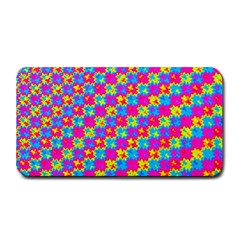 Crazy Yellow And Pink Pattern Medium Bar Mats by KirstenStar