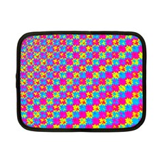 Crazy Yellow And Pink Pattern Netbook Case (small)  by KirstenStar