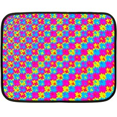 Crazy Yellow And Pink Pattern Fleece Blanket (mini) by KirstenStar