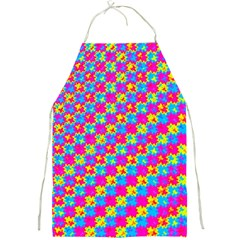 Crazy Yellow And Pink Pattern Full Print Aprons by KirstenStar
