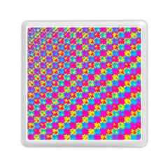 Crazy Yellow And Pink Pattern Memory Card Reader (square)  by KirstenStar
