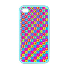 Crazy Yellow And Pink Pattern Apple Iphone 4 Case (color) by KirstenStar