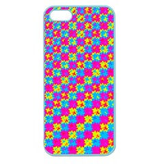 Crazy Yellow And Pink Pattern Apple Seamless Iphone 5 Case (color) by KirstenStar