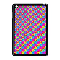 Crazy Yellow And Pink Pattern Apple Ipad Mini Case (black) by KirstenStar