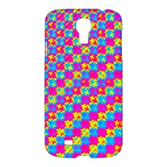 Crazy Yellow And Pink Pattern Samsung Galaxy S4 I9500/i9505 Hardshell Case by KirstenStar
