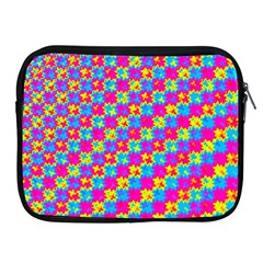 Crazy Yellow And Pink Pattern Apple Ipad 2/3/4 Zipper Cases by KirstenStar