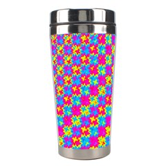 Crazy Yellow And Pink Pattern Stainless Steel Travel Tumblers by KirstenStar