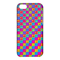 Crazy Yellow And Pink Pattern Apple Iphone 5c Hardshell Case by KirstenStar