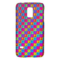 Crazy Yellow And Pink Pattern Galaxy S5 Mini by KirstenStar