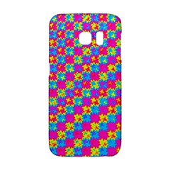 Crazy Yellow And Pink Pattern Galaxy S6 Edge by KirstenStar