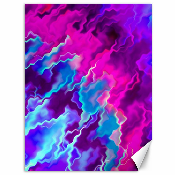 Stormy Pink Purple Teal Artwork Canvas 36  x 48