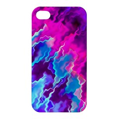 Stormy Pink Purple Teal Artwork Apple Iphone 4/4s Premium Hardshell Case by KirstenStar
