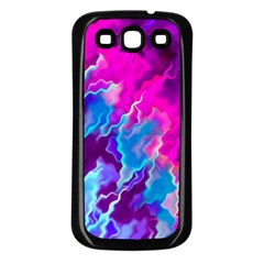 Stormy Pink Purple Teal Artwork Samsung Galaxy S3 Back Case (black) by KirstenStar