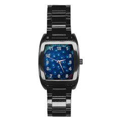 Blue Plant Stainless Steel Barrel Watch by InsanityExpressed