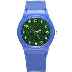 Green Moss Round Plastic Sport Watch (s) by InsanityExpressed