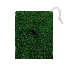 Green Moss Drawstring Pouches (large)