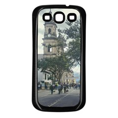 Cathedral At Historic Center Of Bogota Colombia Edited Samsung Galaxy S3 Back Case (black) by dflcprints