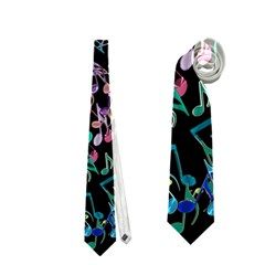 Improvisational Music Notes Neckties (one Side)  by urockshop