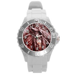 The Bleeding Tree Round Plastic Sport Watch (l) by InsanityExpressed