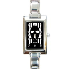 Masked Rectangle Italian Charm Watches by ArtistRoseanneJones