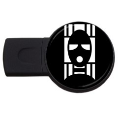 Masked Usb Flash Drive Round (4 Gb)  by ArtistRoseanneJones