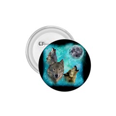Wolves Shiney Grim Moon 3000 1 75  Button by ratherkool