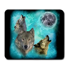 Wolves Shiney Grim Moon 3000 Large Mousepads by ratherkool