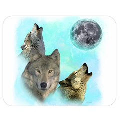 Wolves Shiney Grim Moon 3000 Double Sided Flano Blanket (medium)  by ratherkool
