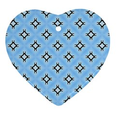 Cute Pretty Elegant Pattern Heart Ornament (2 Sides)