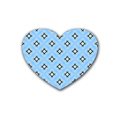 Cute Pretty Elegant Pattern Rubber Coaster (heart)