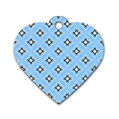 Cute Pretty Elegant Pattern Dog Tag Heart (two Sides)