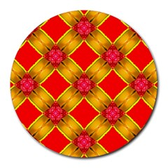 Cute Pretty Elegant Pattern Round Mousepads