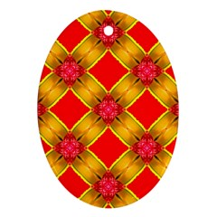 Cute Pretty Elegant Pattern Ornament (Oval)