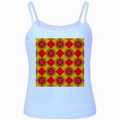 Cute Pretty Elegant Pattern Baby Blue Spaghetti Tanks