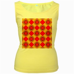 Cute Pretty Elegant Pattern Women s Yellow Tank Tops