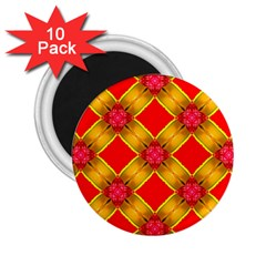 Cute Pretty Elegant Pattern 2.25  Magnets (10 pack)