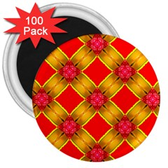 Cute Pretty Elegant Pattern 3  Magnets (100 pack)