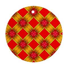 Cute Pretty Elegant Pattern Round Ornament (Two Sides)