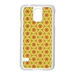 Cute Pretty Elegant Pattern Samsung Galaxy S5 Case (White) Front