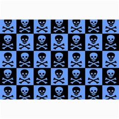 Blue Skull Checkerboard Collage 12  X 18