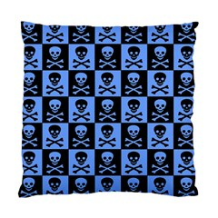 Blue Skull Checkerboard Standard Cushion Case (one Side)  by ArtistRoseanneJones