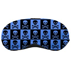 Blue Skull Checkerboard Sleeping Masks by ArtistRoseanneJones