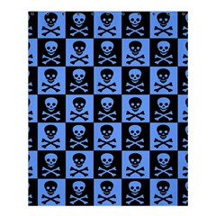 Blue Skull Checkerboard Shower Curtain 60  X 72  (medium)  by ArtistRoseanneJones