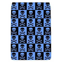 Blue Skull Checkerboard Flap Covers (l)