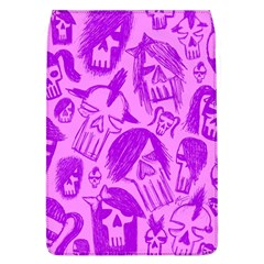 Purple Skull Sketches Flap Covers (l)  by ArtistRoseanneJones