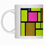 Squares and rectangles White Mug Left