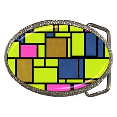 Squares And Rectangles Belt Buckle by LalyLauraFLM