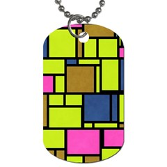 Squares And Rectangles Dog Tag (two Sides) by LalyLauraFLM